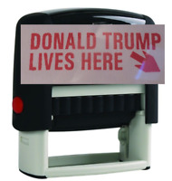 Donald Trump Lives Here Stamp Traxx 9011  (Ideal 50 Size) USA SELLER