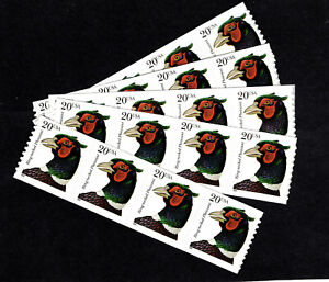 3055 Ring-Necked Pheasant (5 Strips Of 4 FACE $4.00) MNH