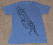 NEW! GEARS OF WAR JUDGEMENT Lancer E3 2012 T-Shirt (Light Blue) Large GOW L gowj