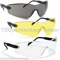 1 x Pair Blackrock Safety Spectacles Specs Glasses with Arm Adjust EN166 Sports