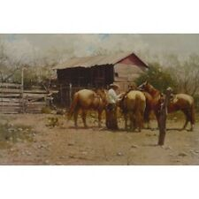 "MELVIN WARREN -"" TOP HAND ON THE CONCHO "" - LTD ED PRT"