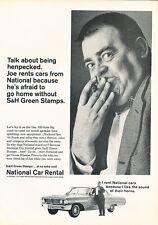 1964 Ford National Rental - Original Car Advertisement Print Ad J133