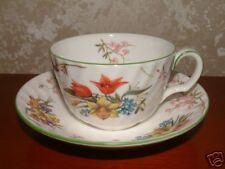 Six Minton Spring Blossom Tea Cups & Saucers- Pristine
