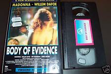 [1687] Body of evidence (1993) VHS Madonna 1° edizione