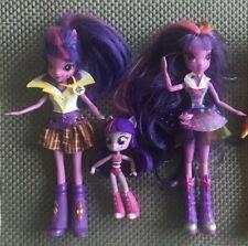 Job lot My Little Pony MLP 3 x Equestria Girls Dolls TWILIGHT SPARKLE TALK/SINGS