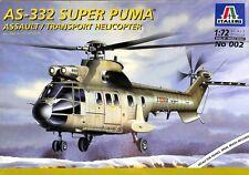 Italeri 1:72 AS-332 Super Puma Assault/Transport Helicopter Plastic Kit #002