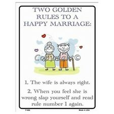 Parking Sign - Two Golden Rules Wall Art Home Decor Picture Gift
