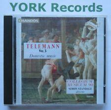 TELEMANN - Vol 3 - Domestic Music STANDAGE Collegium Musicum 90 - Ex CD Chandos