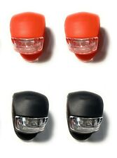 Bicycle Light Front and Rear Silicone LED Bike Light Headlight&Taillight(4 Pcs)