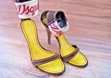 DSQUARED High Heels SZ EUR 35 US 5 Peek A Toe Shoes Leather UNIQUE Authentic