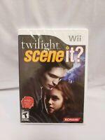 SCENE IT? TWILIGHT NINTENDO Wii GAME 2009 KONAMI BRAND NEW SEALED