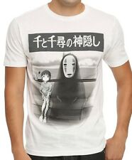 Spirited Away Girl and Ghost Train Scene White Men's T-Shirt New