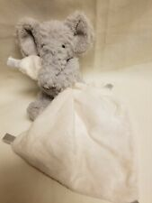Little Jellycat London Mini Gray Elephant Lovey attached mini blanket Baby Plush