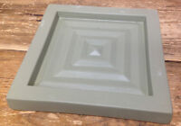 Fishel Collection Pottery Heavy Trivet Square Hot Plate Sage Green Help? Vintage