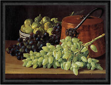 Still Life with Grapes, Figs, and a Copper Kettle Melendez  Faks_B 02841