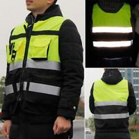 Chaqueta seguridad alta visibilidad Chaleco reflectante seguridad para la noche