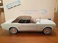 "Danbury Mint 1966 Ford Mustang Hardtop 1/24 ""VERY RARE in ARCADIAN BLUE"" MIB"