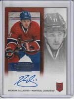 Brendan Gallagher Canadiens 2013-14 Panini Contenders Autographed Rookie Card