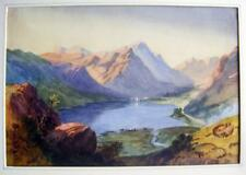 LAKE DISTRICT GRASMERE(?) .ELIZABETH  AMBROSE ARCHIVE(4) W/COL C1830