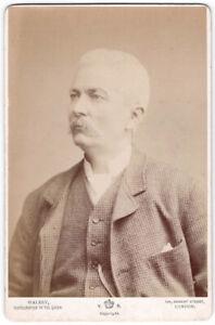 Original Cabinet portrait photograph of African Explorer Henry Morton Stanley