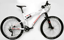 "STRADALLI CARBON FIBER DUAL SUSPENSION BIKE MTB SHIMANO XT 27.5 650B S 16"" WHITE"