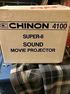 VINTAGE! CHINON 4100 SUPER 8 SOUND MOVIE PROJECTOR  IN BOX