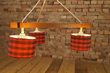 60er DECKENLAMPE Mid Century TEAK KRONLEUCHTER 60s LAMPE PENDANT LAMP Vintage