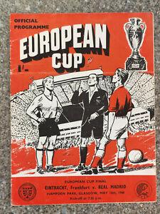 1960 - EUROPEAN CUP FINAL PROGRAMME - EINTRACHT FRANKFURT v REAL MADRID