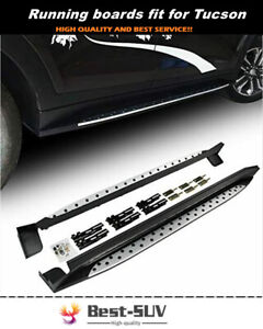 Fit for Hyundai Tucson 2015-2021 Door Fixed Running Board Nerf Bar Side Step