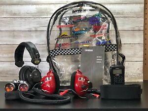Racing Electronics Uniden BC72XLT Racing Scanner & Headset Bundle Tested EUC