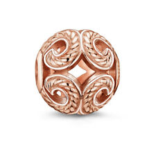 Genuine NEW THOMAS SABO Rose Gold Plated Wave 11mm Karma Bead - RRP AU$89.00