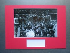 LIVERPOOL1982 CHARITY SHIELD *5* LEGENDS SIGNED A3 MOUNTED PHOTO DISPLAY - COA