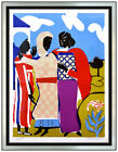 Romare Bearden Three Woman Easter Sunday Original Color Lithograph Signed Art
