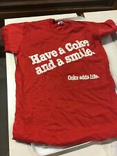 Vintage Have A Coke Add A Smile  Coke Adds Life M 38-40 T Shirt Bright Colors