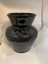 Paden City Black Forest Vase Black Depression Glass