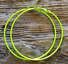 Neon Hoops 80s rave Coloured 65mm Big Hoops Hoop Earrings Pink Yellow Orange