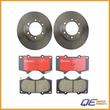 Set of 2 Front Disc Brake Rotors and Pads Brembo Fits: 4Runner FJ Cruiser Tacoma