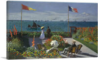 ARTCANVAS Garden at Sainte-Adresse Canvas Art Print by Claude Monet
