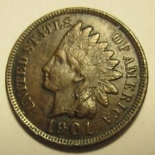 1901 * XF FULL LIBERTY Indian CENT * COMBINE Still * $2. Ship *ends SAT, JUNE 23