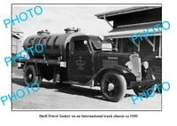 OLD 8x6 PHOTO SHELL OIL COMPANY PETROL TANKER c1930