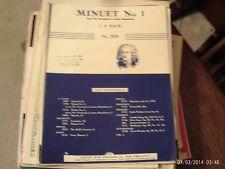 Bach: Minuet No. 1,  piano (Century)