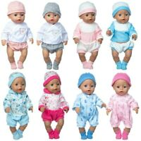 Babies Dolls Clothes And Accessories Suit Wear For 43cm Baby Doll 17 Inch Born