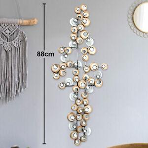 Design Wand Objekt Eisen Bild Kristall Kreis Muster Dekoration Behang champagner