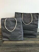 Reusable Foldable 2 Tote Bag Set - Perfect for Groceries, Storage, Car, Gift Bag