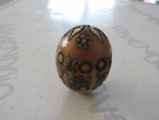 Old Egg Of Wood Carved And Decorated Very Pretty