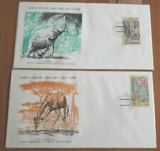 Czechoslovakia 1976 Set Of 2 Stamp FDC's - WWF African Animals  - MINT
