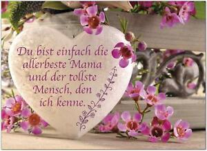 Postkarte Graviertes Herz mit tollem Spruch / Karte mit Umschlag / Muttertag