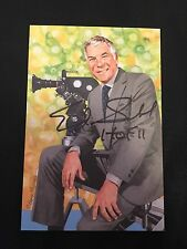 ED SABOL SIGNED AUTOGRAPHED HALL OF FAME GOAL LINE ART CARD ESPN FILMS HOF 2011