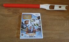 RED LIGHT SABER + STAR WARS THE CLONE WARS=NINTENDO Wii=LIGHTSABER