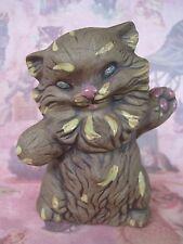 Whimsical Vintage Ceramic Kitty Cat Figurine
